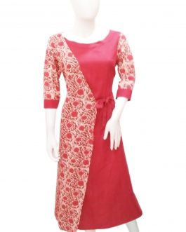 BOAT NECK FLAIRED A-LINE  KURTI